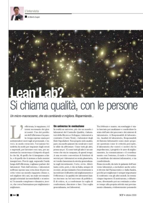 Lean Lab - SI chiama Qualita' Con Le Persone